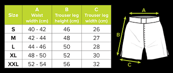 Cage Fighter Shorts Size Chart King Performance Mma Shorts