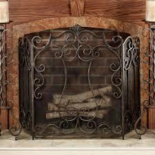 antique fireplace screen. living room best brown metal fireplace screens with door single panel screen arched doors antique
