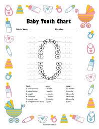 Baby Tooth Chart Free Printable Allfreeprintable Com