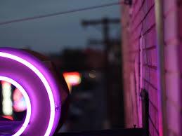 wallpaper neon, ungu, ungu, bentuk ...