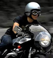 helmet goggles gloves fairing triumph cafe racer