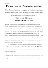 Essay Engaging Poetry Docsity
