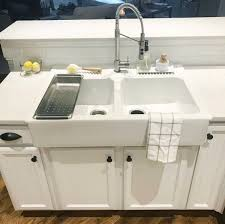 in our contractor to install this sink just to be completely honest he had a lot of hesitations with the size and fit with our cur cabinets