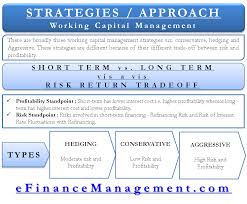working capital mangement strategies approaches
