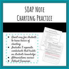 Charting Practice For Nurses Medical Charting Soap Note Practice