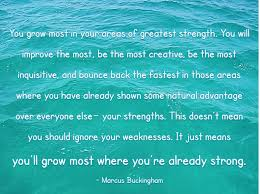 inspiration monday morning inspiration page  you grow most in your areas of greatest strength you will improve the most
