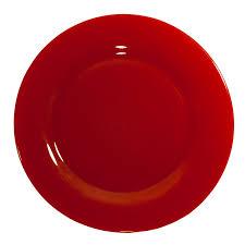 rio glass dinner plate ruby