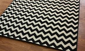 nuloom black and ivory chevron rugs