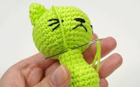 Free Crochet Cat Patterns Best Free Pattern Tiny LongLegged Cat