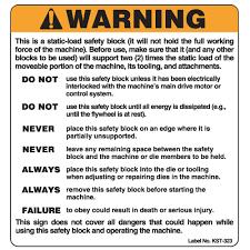 bench grinder safety signs. die safety block warning labels (kst323-kst323s) bench grinder signs