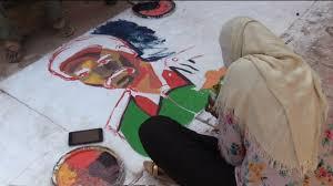 نتيجة بحث الصور عن جداريات الثورة السودانية فنانين تشكيليين