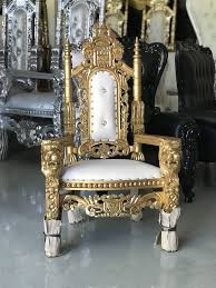 free nationwide delivery gold white kids throne chairs king queen princess royal baroque rococo event party photography chair for in dallas
