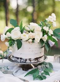 wedding cakes topped with fresh flowers apartment therapy