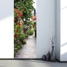 Funlife Blühende Bäume Wasserdicht Tür Aufkleber Imitation 3d
