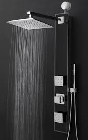 Features: -Shower panel system comes with a easy connect adapter, rainfall shower  heads