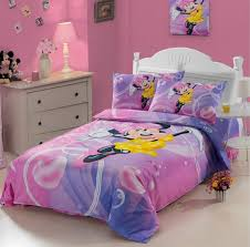 100 cotton kids cute cartoon minnie mouse pink duvet cover bedding set twin full bed duvet