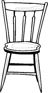 Small Picture Chair Colouring Pages For Kids