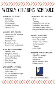 Weekly House Cleaning Chart Cleaning Schedule Made Simple Cleaning Hacks Weekly
