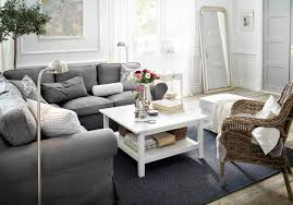 ... Living Room, Ikea Living Room Ideas With Carpet And White Wooden Table  And White Curtain