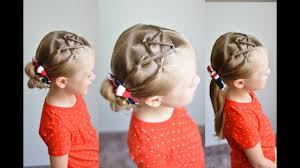 Fourth Of July Hairstyles Fourth Of July Easy Mini Star Hairstyle Qs Hairdos Youtube