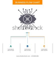 Ar Augmentation Cyber Eye Lens Business Stock Vector