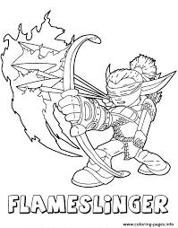 skylanders coloring pages to print. Fine Skylanders Skylanders Giants Fire Flameslinger Series2 Coloring Pages 448 Prints Intended Coloring Pages To Print S