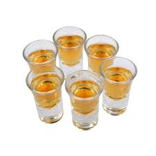 0 7oz 6 pack shot glasses heavy base set wooden cup holder kit for cocktail tequila whiskey bourbon vodka liqueur
