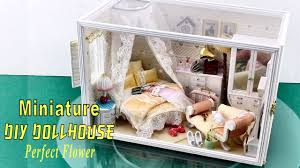diy miniature dollhouse kit with working lights perfect flower you