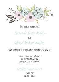 diy wedding invitation template. a floral wedding invite template diy invitation n