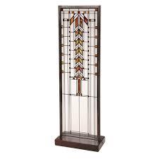 frank lloyd wright art glass panels barton house buffet door
