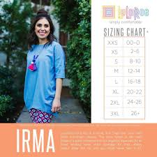 Size Chart For Lularoe Irma Pin By Susan Sterkel On Lularoe Sizing Charts Cost Chart