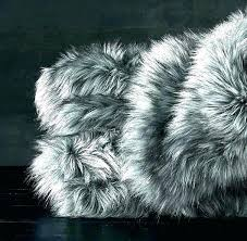 faux fur king size blanket black faux fur throw over blanket image 0 where to