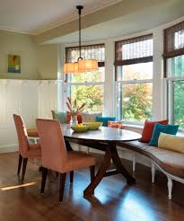 stylish and comfy dining room with banquette bench adorable dining room design with oval dining