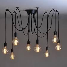 Us 3275 37 Offmordern Nordic Retro Edison Birne Licht Kronleuchter Vintage Loft Antiken Verstellbare Diy E27 Kunst Spinne Deckenleuchte Leuchte