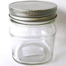 glass jar square half pint 240ml