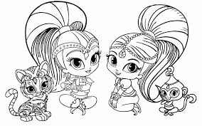 Shimmer And Shine Shimmer And Shine Are Sitting With Tala And