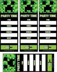 Printable Invitations Minecraft Download Them Or Print
