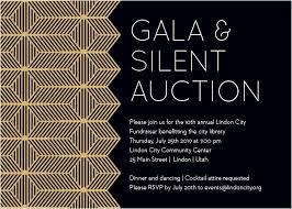 Auction Invitations Gala Invitations Corporate Event Dinner Invitations Basic Invite