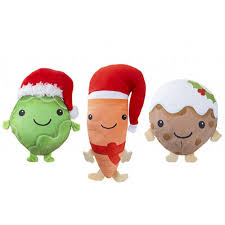 Assorted Food Plush Christmas Toy Stocking Filler   Partyrama