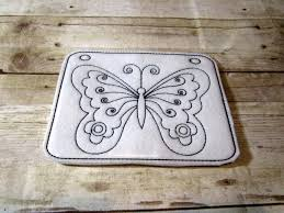 Butterfly Reusable Coloring Page Felt By Garnishedgirl On Zibbet