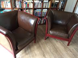 beautiful italian leather armchairs pair perth