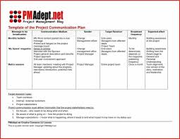 Communication Plan Template Word Free Project Management Communication Plan Template Word Bire