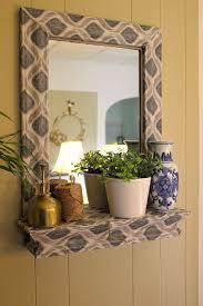 Diy mirror frame decoration Gemstone 20 Diy Mirror Frames Ideas Yhomeco 16 Creative Diy Mirror Frame Ideas Ideas For Decorating Mirror