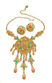 Vendome Enamel Necklace & Earring Demi What an <b>exquisite hard</b> ...