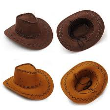 vintage leather western cowboy hats leisure tourist caps wide brim sunhat for men women trend cowboy cowgirl uni hats mens hat styles hat from gslyy0712
