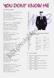 You Don T Know What Love Is Chart You Don T Know Me Esl Worksheet By Cris M