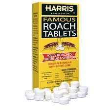 Harris Famous Roach Silverfish Killer Tablets 6oz Treats A