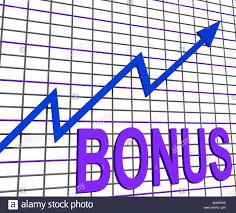Chart Showing Increase Bonus Chart Graph Showing Increase Reward Or Perk Stock