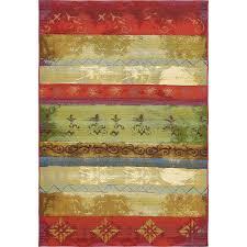 unique loom outdoor modern multi 5 3 x 8 rug