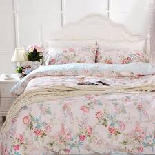 cotton bedding comforter sets throughout fadfay pink blue fl duvet cover bed idea